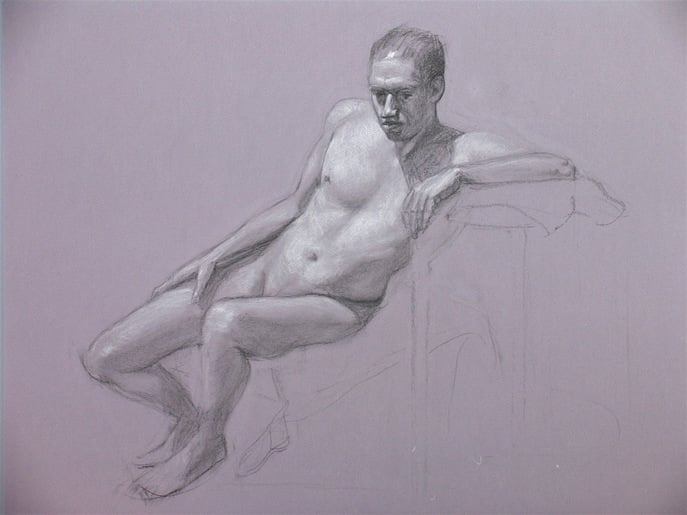 Figure in Charcoal - Tanya Roland Drawings