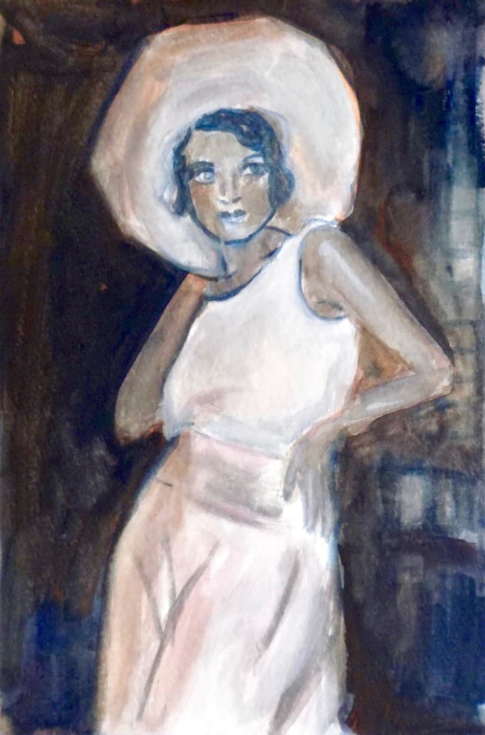 Lady in Hat - Tanya Roland - Painting