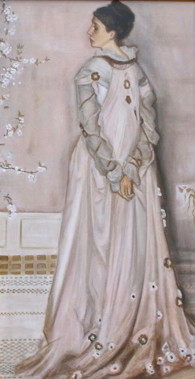 Symphony in Peach and Grey - Tanya Roland - Copying the Masters