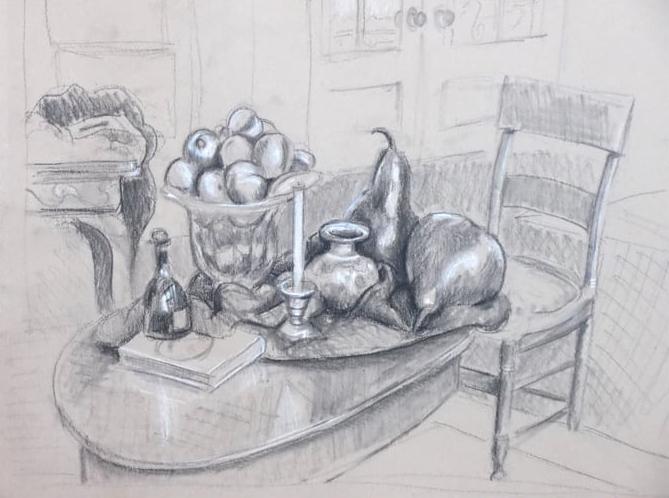 Still Life - Tanya Roland - Drawing