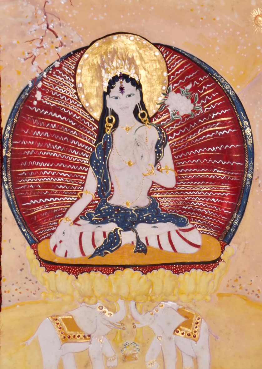 White Tara - Tanya Roland - Painting