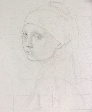 Pearl earring - Tanya Roland - Drawing