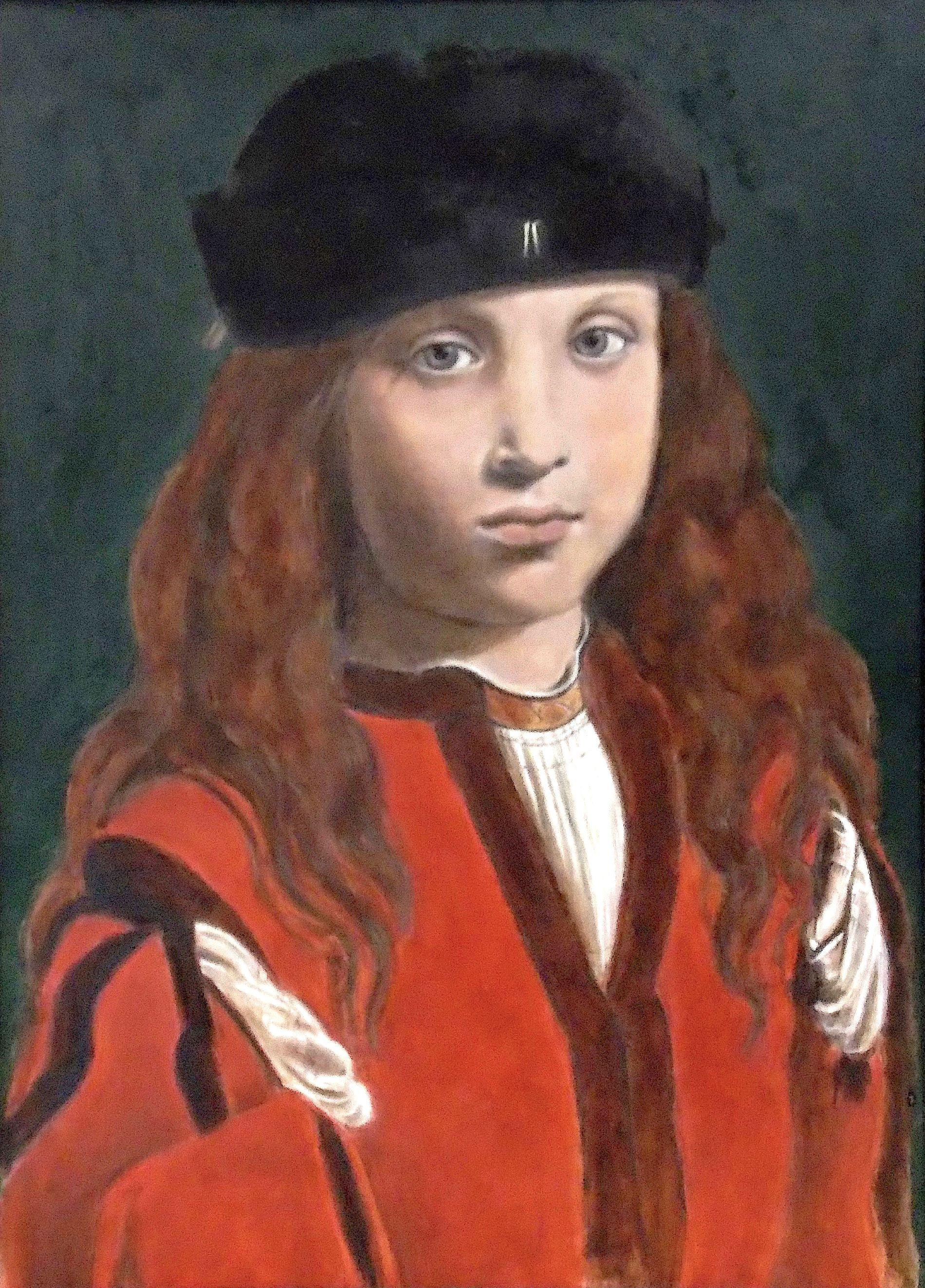 Portrait of a Youth after Boltraffio - Tanya Roland - Copying the Masters